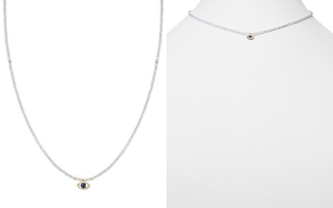 """Meira T 14K Yellow Gold Sapphire, Diamond and Chalcedony Beaded Evil Eye Choker Necklace, 12"""" - Bloomingdale's_2"""