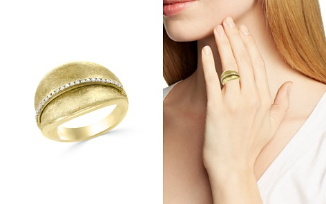Diamond Textured Wide Ring in 14K Yellow Gold, .15 ct. t.w. - 100% Exclusive - Bloomingdale's_2