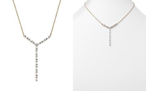 Diamond Round and Baguette Y Pendant Necklace in 14K Yellow Gold, 1.0 ct. t.w. - 100% Exclusive - Bloomingdale's_2