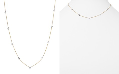 Diamond Station Necklace in 14K Yellow and White Gold, .60 ct. t.w. - 100% Exclusive - Bloomingdale's_2