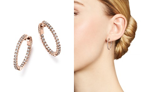Diamond Inside Out Hoop Earrings in 14K Rose Gold, 1.0 ct. t.w. - 100% Exclusive - Bloomingdale's_2
