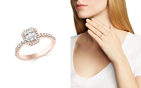 Diamond Cluster Ring in 14K White and Rose Gold, .50 ct. t.w. - 100% Exclusive - Bloomingdale's_2