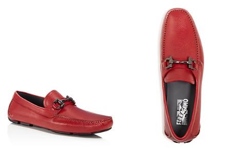 Salvatore Ferragamo Men's Parigi Double Gancini Bit Pebbled Leather Loafers - Bloomingdale's_2