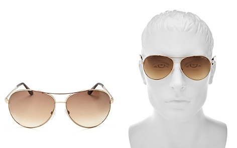 Tom Ford Charles Aviator Sunglasses, 65mm - Bloomingdale's_2
