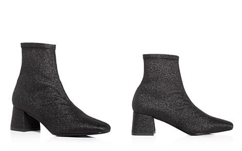 Aska Gia Stretch Glitter Mid Heel Booties - Bloomingdale's_2