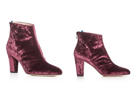SJP by Sarah Jessica Parker Minnie Velvet High-Heel Booties - 100% Exclusive - Bloomingdale's_2