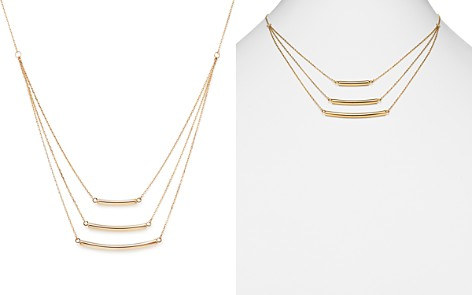 "14K Yellow Gold Triple Graduated Bar Necklace, 18"" - 100% Exclusive - Bloomingdale's_2"