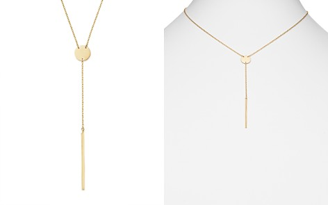 """14K Yellow Gold Disk and Bar Drop Y Necklace, 16"""" - 100% Exclusive - Bloomingdale's_2"""