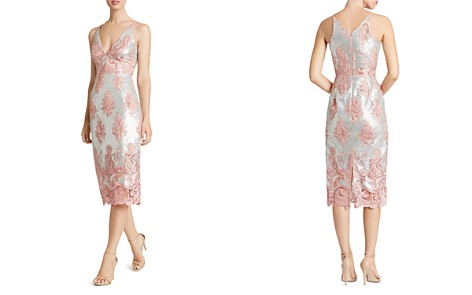 Dress the Population Angela Sequin & Lace Dress - Bloomingdale's_2