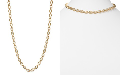 "Roberto Coin 18K White and Yellow Gold New Barocco Diamond Necklace, 16"" - Bloomingdale's_2"