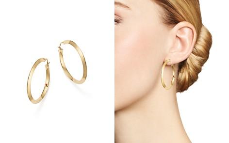 Roberto Coin 18K Yellow Gold Oro Classic Hoop Earrings - Bloomingdale's_2