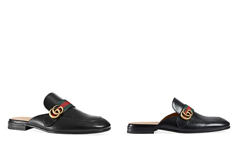 Gucci Men's Princetown Leather Slippers with Double G - Bloomingdale's_2