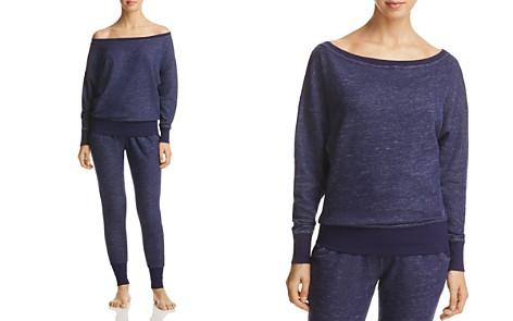 2(X)IST Off-the-Shoulder Sweatshirt & Slouchy Jogger Pants - Bloomingdale's_2