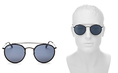 Ray-Ban Unisex Icons Retro Brow Bar Round Sunglasses, 50mm - Bloomingdale's_2