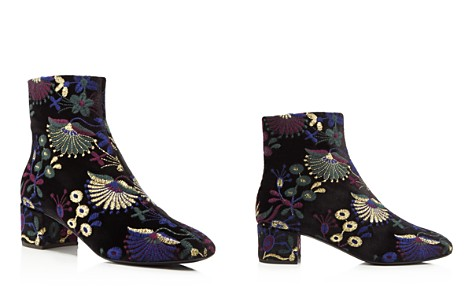 Giuseppe Zanotti Embroidered Velvet Block Heel Booties - 100% Exclusive - Bloomingdale's_2