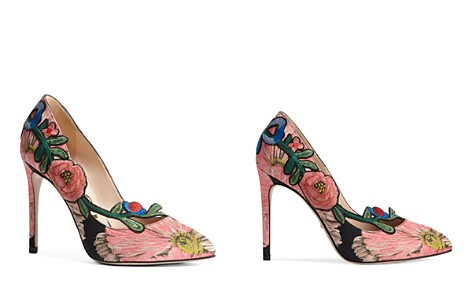 Gucci Ophelia Embroidered High Heel Pumps - Bloomingdale's_2