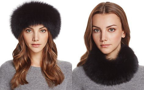 Maximilian Furs Fox Fur Knit Headband - Bloomingdale's_2