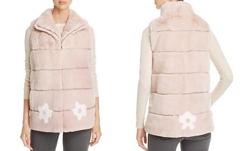 Maximilian Furs Floral Rabbit Fur Vest - 100% Exclusive - Bloomingdale's_2