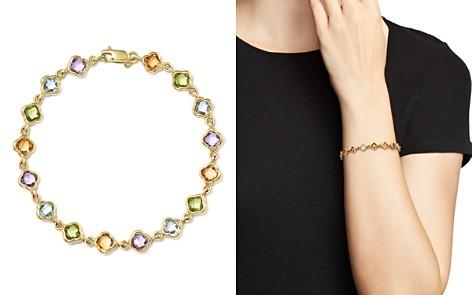 Multi Gemstone Clover Bracelet in 14K Yellow Gold - 100% Exclusive - Bloomingdale's_2