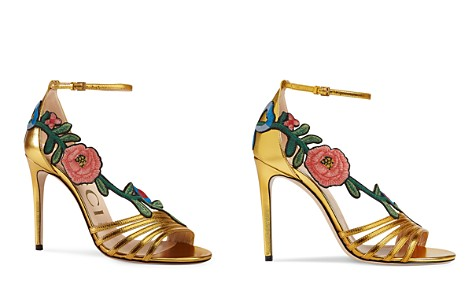Gucci Women's Embroidered High-Heel Sandals - Bloomingdale's_2