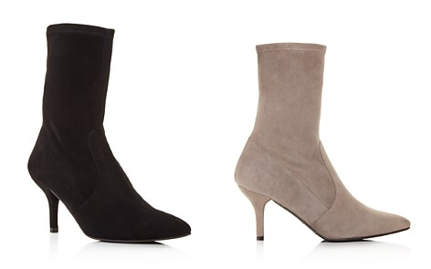 Stuart Weitzman Cling Suede Stretch Sock Booties - Bloomingdale's_2