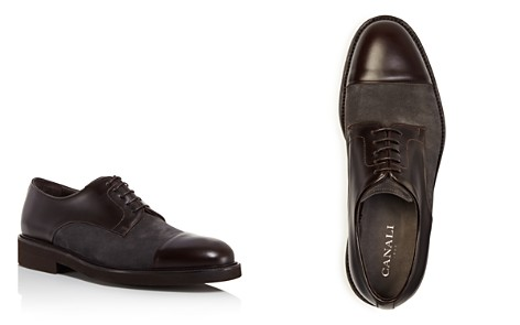 Canali Mixed Leather and Suede Captoe Derbys - Bloomingdale's_2