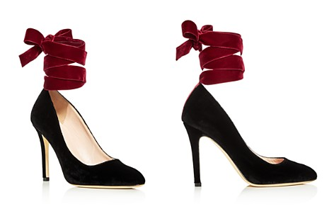 SJP by Sarah Jessica Parker Ania Velvet Ankle Tie Pumps - Bloomingdale's_2