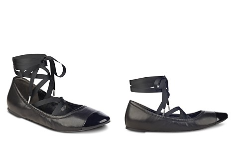 Sigerson Morrison Charlotte Leather Ankle Wrap Ballet Flats - Bloomingdale's_2
