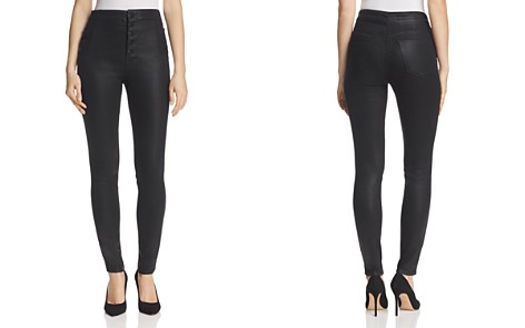 J Brand Natasha Button Sky High Coated Skinny Jeans in Fearless - Bloomingdale's_2