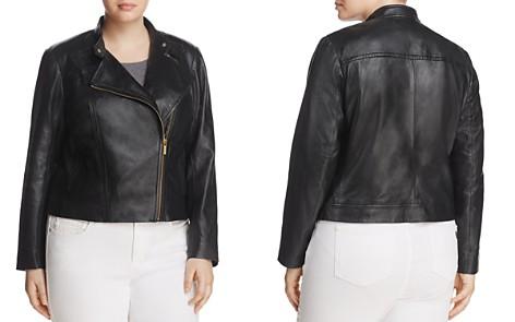 MICHAEL Michael Kors Plus Leather Moto Jacket - Bloomingdale's_2