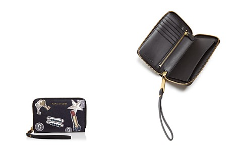 MARC JACOBS Tossed Charms Zip Saffiano Leather Phone Wristlet - Bloomingdale's_2