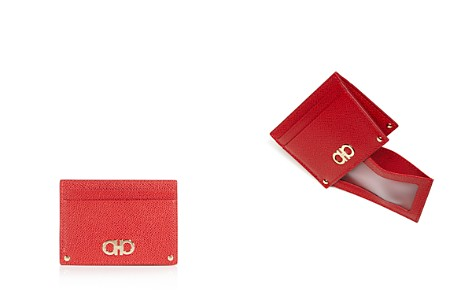 Salvatore Ferragamo Gancini Leather Card Case - Bloomingdale's_2