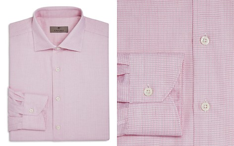 Canali Red-Weave Regular Fit Dress Shirt - Bloomingdale's_2