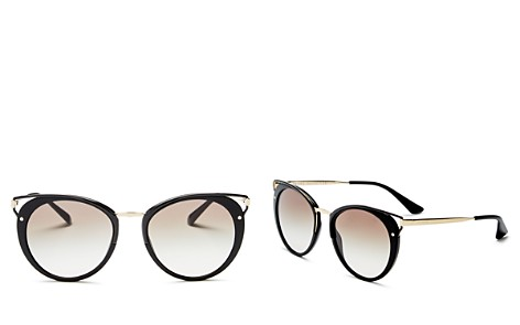 Prada Wanderer Evolution Round Sunglasses, 54mm - Bloomingdale's_2