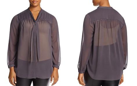 NYDJ Plus Tie Neck Top - 100% Exclusive - Bloomingdale's_2