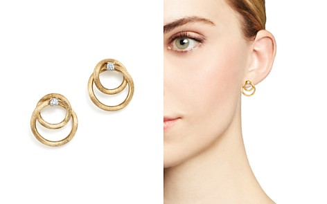 Marco Bicego 18K Yellow Gold Luce Diamond Link Stud Earrings - 100% Exclusive - Bloomingdale's_2
