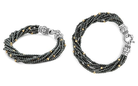 LAGOS 18K Gold and Sterling Silver Caviar Icon Hematite Beaded Multi Strand Bracelet - Bloomingdale's_2