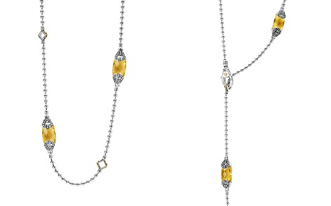 "LAGOS 18K Gold and Sterling Silver Caviar Color Station Necklace with Citrine, 34"" - Bloomingdale's_2"