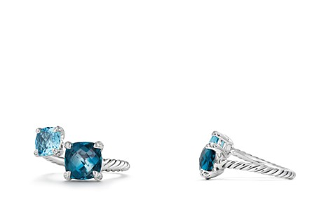 David Yurman Châtelaine Bypass Ring with Hampton Blue Topaz, Blue Topaz and Diamonds - Bloomingdale's_2