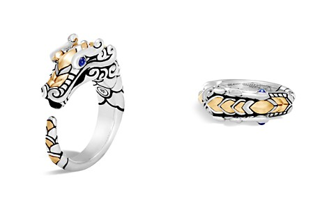 John Hardy 18K Gold and Sterling Silver Legends Naga Ring with Sapphire - Bloomingdale's_2