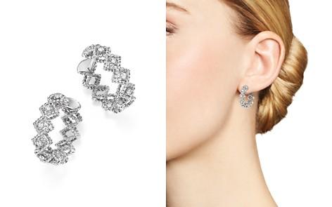 Roberto Coin 18K White Gold Gold New Barocco Diamond Hoop Earrings - Bloomingdale's_2