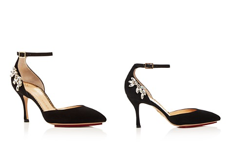 Charlotte Olympia Women's Adele Embellished Suede Ankle Strap Pumps - Bloomingdale's_2