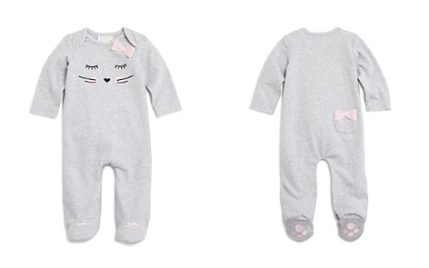Bloomie's Girls' Whiskers & Bows Footie, Baby - 100% Exclusive - Bloomingdale's_2