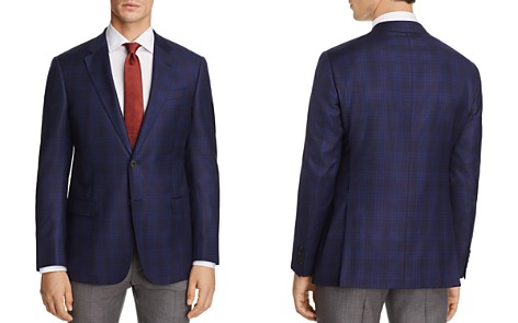 Armani Collezioni Plaid Classic Fit Sport Coat - Bloomingdale's_2