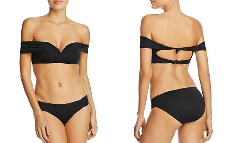 BECCA® by Rebecca Virtue Socialite V-Wire Bikini Top & Color Code Shirred Tab Bikini Bottom - Bloomingdale's_2