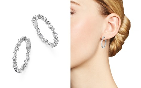 Diamond Inside Out Hoop Earrings in 14K White Gold, 1.75 ct. t.w. - 100% Exclusive - Bloomingdale's_2