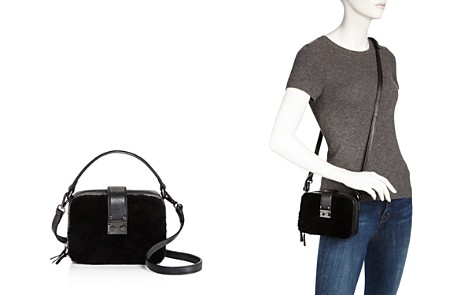AQUA Tada Square Shearling Crossbody - 100% Exclusive - Bloomingdale's_2