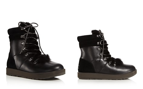 UGG® Vicki Waterproof Leather & Sheepskin Boots - Bloomingdale's_2