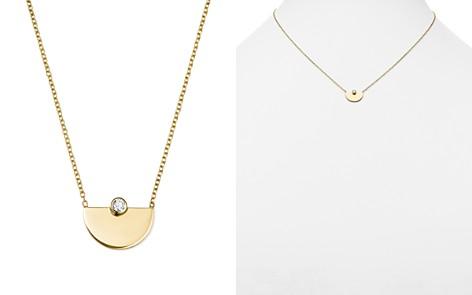 "Zoë Chicco 14K Yellow Gold Horizon Diamond Pendant Necklace, 16"" - Bloomingdale's_2"