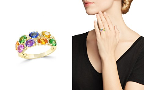 Multicolor Sapphire, Diamond and Tsavorite Ring in 14K Yellow Gold - 100% Exclusive - Bloomingdale's_2